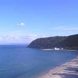 大浜海水浴場とボードウォーク